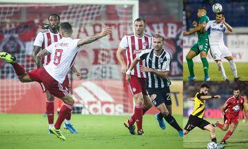 Super League 1: Στο Ηράκλειο ο Ολυμπιακός, με Ατρόμητο ο Παναθηναϊκός, στον Βόλο η ΑΕΚ