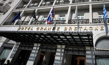 Συνάντηση «Big-4»: Δείτε Μαρινάκη, Αλαφούζο, Μελισσανίδη, Σαββίδη στο «Grande Bretagne» (pics)
