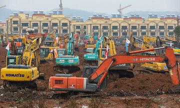 Κοροναϊός: Χτίζουν νοσοκομείο μέσα σε δέκα μέρες στην Κίνα! (pics, vids)