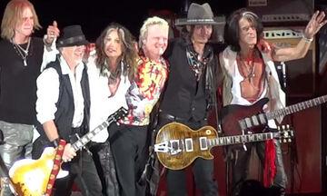 Συναυλία των Τζόνι Ντεπ, Άλις Κούπερ με Aerosmith (vid)