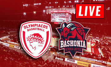 LIVE: Ολυμπιακός - Μπασκόνια (21:00)