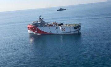 Εντός ελληνικής υφαλοκρηπίδας το τουρκικό Oruc Reis - Σπεύδει η φρεγάτα Ν. Φωκάς