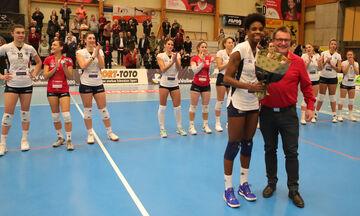 Challenge Cup Volley γυναικών: Live score: ΑΟ Θήρας-Σαφχάουσεν  3-1