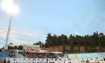 Με το πανό για τα θύματα της Θύρας 7 οι οπαδοί του Ολυμπιακού στην Λαμία (pics+vid)