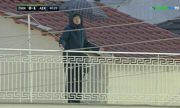 Παναιτωλικός - ΑΕΚ: Ο Αραούχο έστειλε την μπάλα σε... μπαλκόνι σπιτιού! (vid)