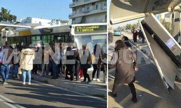 Γλυφάδα: Λεωφορείο έπεσε σε στάση (pics)