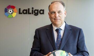 Χαρούμενος ο πρόεδρος της La Liga με την «καμπάνα» της Σίτι