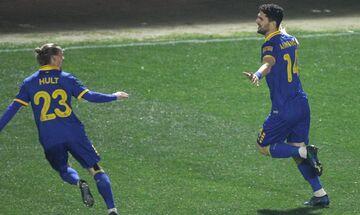 Άρης - ΑΕΚ: Το γκολ του Αλμπάνη για το 0-1 (vid)