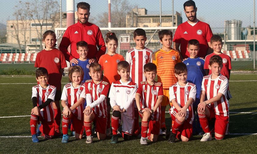 Μία ομάδα επανδρωμένη με παιδιά από τις σχολές του Ολυμπιακού