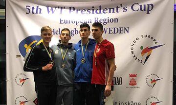 Τάε κβον ντο: Χάλκινο μετάλλιο ο Τεληκωστόγλου στο Presidents Cup G2 Europe