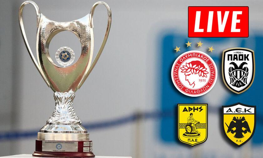 LIVE: Κλήρωση για τα ημιτελικά του Κυπέλλου Ελλάδος (11:00)