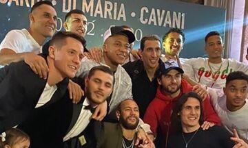 Παρί ΣΖ: Ξεφάντωσαν οι παίκτες σε πάρτι γενεθλίων των Καβάνι, Ικάρντι και Ντι Μαρία (vid)