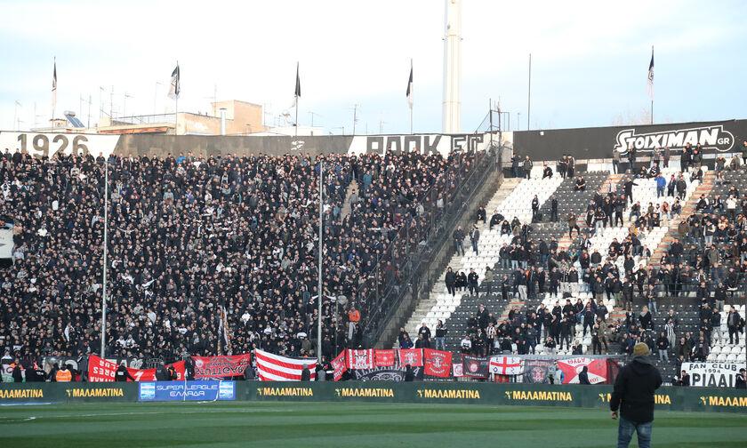 ΠΑΟΚ-Ολυμπιακός: Κατάφεραν και πέρασαν άλλο πανό στην Τούμπα