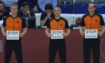 EuroLeague: Μήνυμα των διαιτητών κατά της βίας