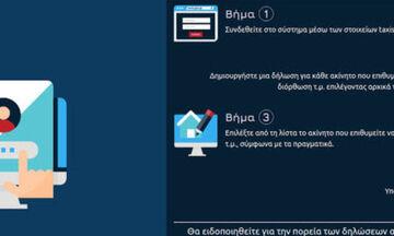 Εφαρμογή για την ηλεκτρονική υποβολή δήλωσης τετραγωνικών ακινήτων