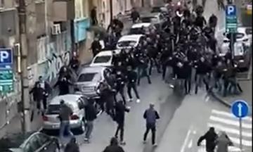 Ερυθρός Αστέρας - Παρτιζάν: Συμπλοκές μεταξύ οπαδών στο Βελιγράδι (vid)