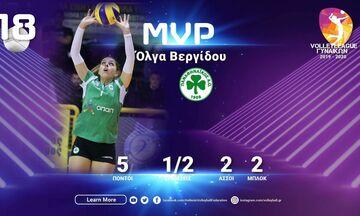 Volleyleague Γυναικών: Η Βεργίδου του Παναθηναϊκού MVP της 18ης αγωνιστικής (pic)