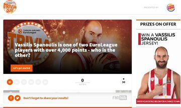 Διαγωνισμός της Euroleague με δώρο μια φανέλα του Σπανούλη: Πόσο καλά ξέρεις τον αρχηγό;