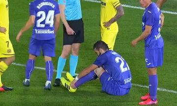 Ο τραυματισμός του Σιόβα στο ματς Βιγιαρεάλ - Λεγανές 1-2