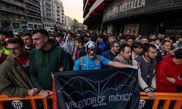 Βαλένθια - Αταλάντα: Κοσμοσυρροή έξω από το Μεστάγια από τους οπαδούς των «νυχτερίδων»! (pics, vids)