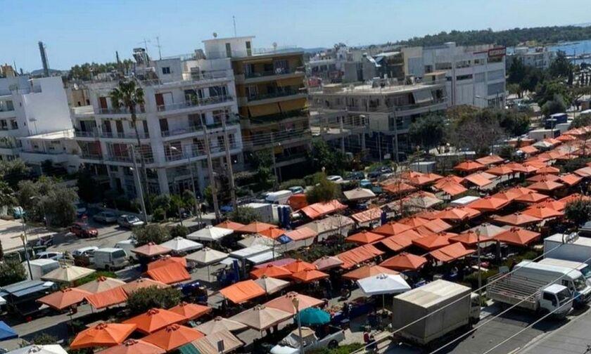Η λαϊκή της Γλυφάδας δεν καταλαβαίνει από κορονοϊό - Έξαλλος ο δήμαρχος (pic)