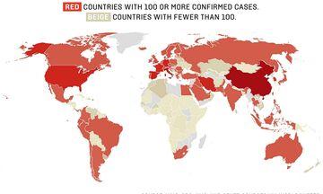 Κορονοϊός: Οι 10 χώρες που έχουν πληγεί περισσότερο