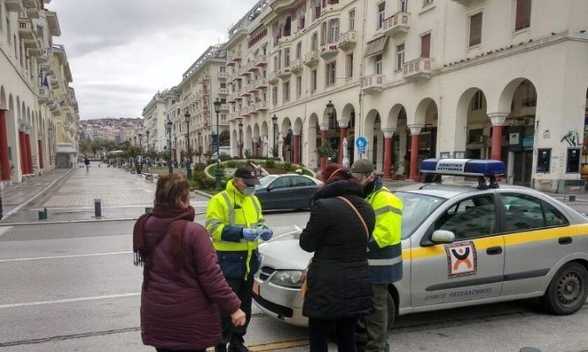 Θεσσαλονίκη: Πρόστιμο σε 82χρονο χωρίς δήλωση μετακίνησης