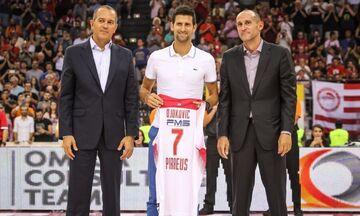 Ο Ολυμπιακός «χειροκρότησε» τη δωρεά του 1 εκατομμυρίου από το ζεύγος Τζόκοβιτς (pic)