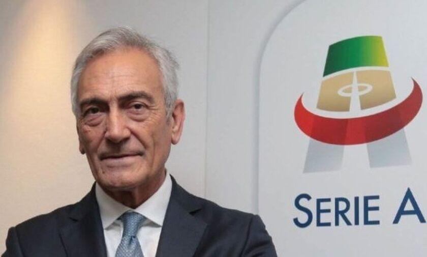 Γκραβίνα: «Όταν έχουμε το πράσινο φως θα ξεκινήσει η Serie A»