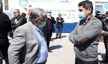 Aυγενάκης, Μώραλης, Πύρρος στην αιμοδοσία της δράσης «Ζήσε Αθλητικά» στο ΣΕΦ (pics, vid)