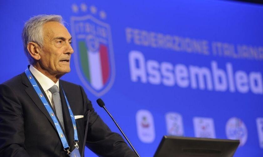 Πρόεδρος ιταλικής Ομοσπονδίας: «Το πρωτάθλημα πρέπει να ολοκληρωθεί»
