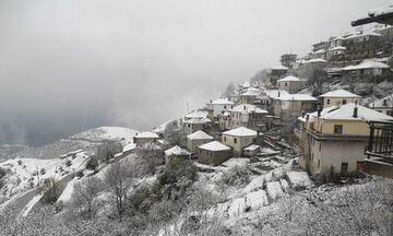 Λευκός Απρίλης: Χιόνια στους νομούς Τρικάλων, Λάρισας και Ιωαννίνων! (vid)