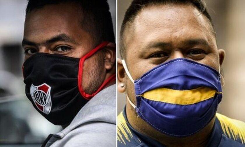 Μάσκες κατά του κορονοϊού με σήματα ομάδων στην Αργεντινή!