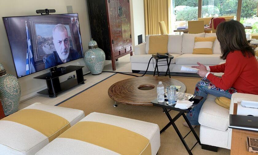 Τηλεδιάσκεψη Γιάννας Αγγελοπούλου με Γιάννη Μώραλη - «Ο Πειραιάς και ο Ολυμπιακός»