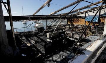 Μικρολίμανο: Οι εικόνες από την ψαροταβέρνα που κάηκε (pics)