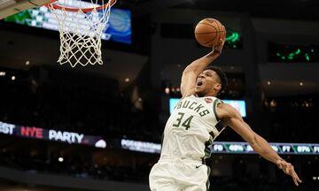 NBA: Με Αντετοκούνμπο τα 100 καλύτερα καρφώματα της σεζόν (vid)