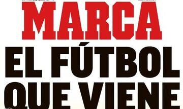 Το ευφάνταστο πρωτοσέλιδο Marca: «Το ποδόσφαιρο που επιστρέφει» (pic)