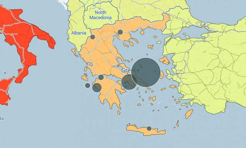 Οι 3 νομοί της Ελλάδας χωρίς κρούσμα, κι αυτοί με τα περισσότερα