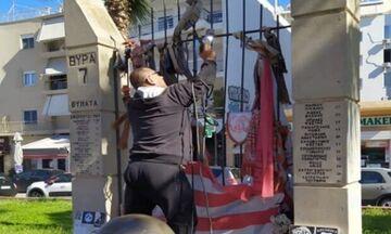 Αποκαταστάθηκε η ζημιά στο Μνημείο των Θυμάτων της Θύρας 7 (pics)