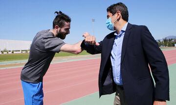 Στο ΟΑΚΑ ο Αυγενάκης για αυτοψία εφαρμογής των μέτρων της σταδιακής επανεκκίνησης του αθλητισμού