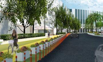 Ανάπλαση στο κέντρο της νέας Αθήνας, με πεζόδρομους και ποδηλατόδρομους