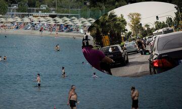 Από νωρίς στις παραλίες - Μποτιλιάρισμα στην παραλιακή - Δείτε εικόνες