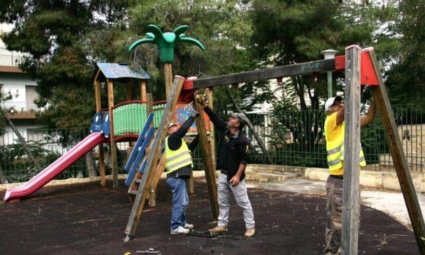 Πειραιάς: Πλήρης ανακατασκευή και εγκατάσταση νέων παιχνιδιών σε 8 παιδικές χαρές