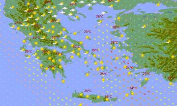 Αγίου Πνεύματος 2020 - Καιρός: H ΕΜΥ για το τριήμερο - Πού έρχονται 33άρια (Χάρτες)