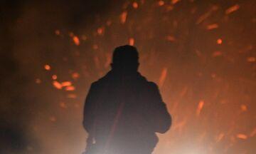 Μεγάλη φωτιά στα Ψαρά