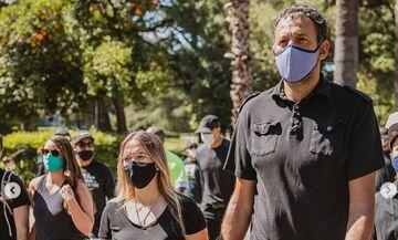 Σακραμέντο Κινγκς: Ο Ντίβατς στην πορεία κατά ρατσισμού για τον Φλόιντ (pic)