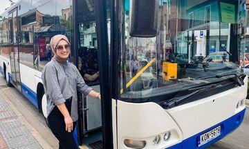 Νεσλιχάν Κιοσέ η πρώτη γυναίκα οδηγός ΚΤΕΛ στην Κομοτηνή
