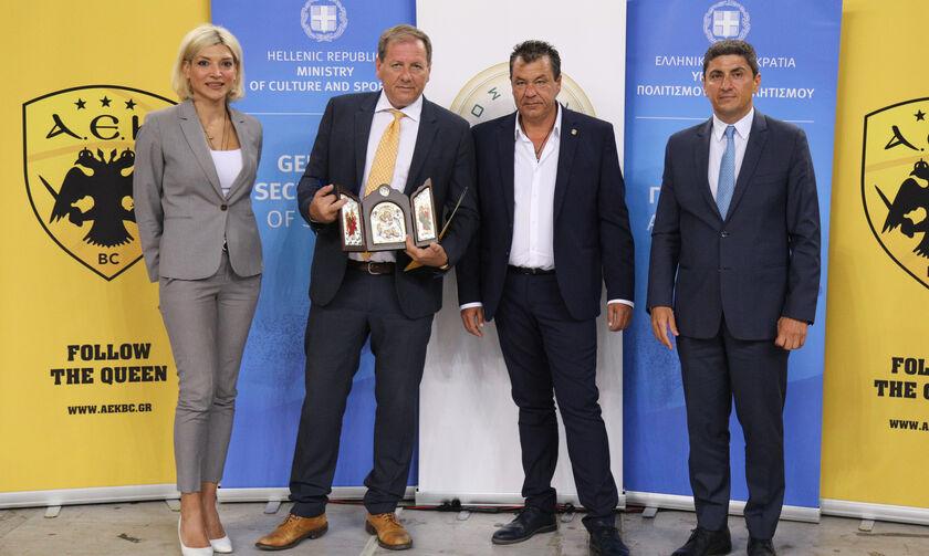 Η ΑΕΚ μπήκε στο κλειστό Άνω Λιοσίων - Αγγελόπουλος: «Με τη βοήθεια της πολιτείας» (pic)
