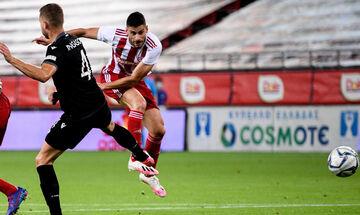 Ολυμπιακός - ΠΑΟΚ: Το γκολ του Μασούρα για το 1-0 (vid)