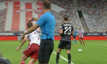 Η φάση που διαμαρτύρεται ο ΠΑΟΚ ότι ο Φορτούνης μπήκε μόνος του στο γήπεδο πριν από το 2-0 (vid)
